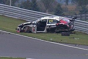 La Honda salva Girolami: botto da 27G e volo in aria, illeso!