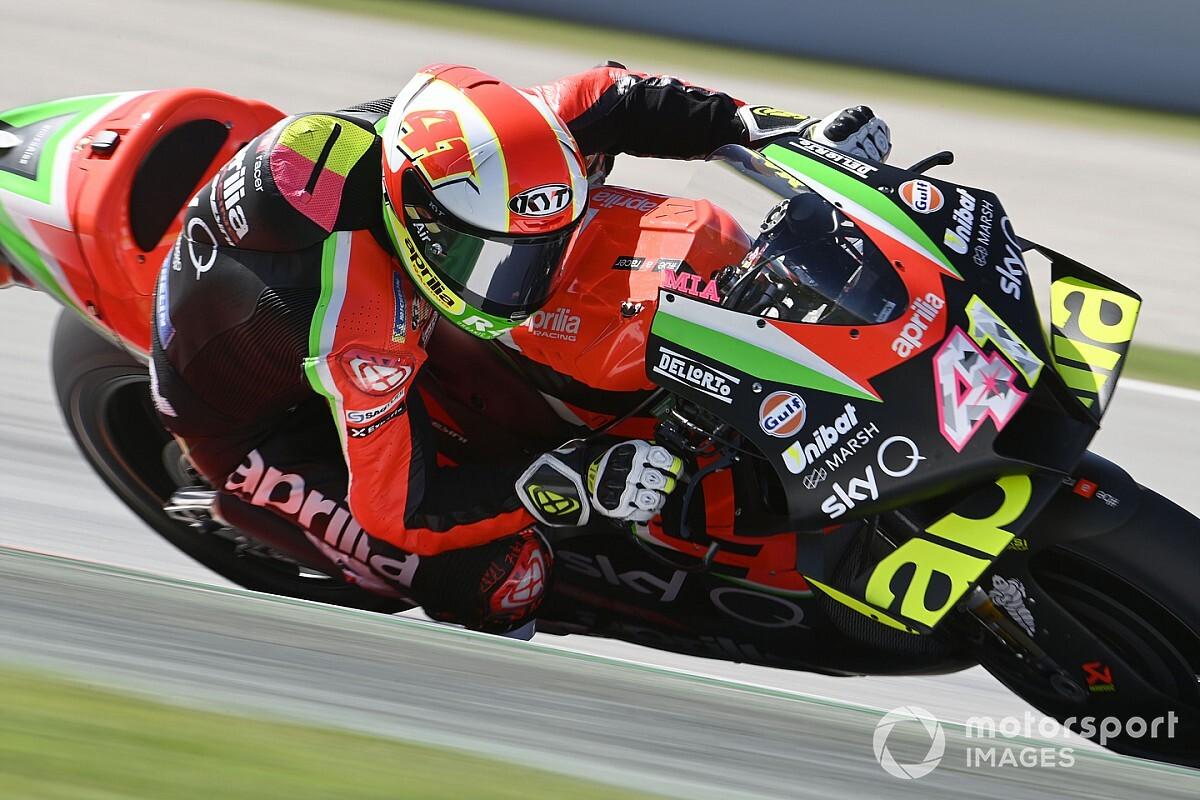 Test MotoGP Portimao: doppietta Aprilia, Lorenzo lento