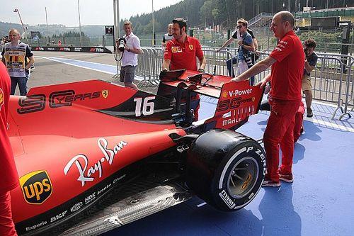 Ferrari ala posteriore scarica, Mercedes media