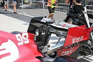 Alfa Romeo: l'ala a cucchiaio viene provata per Spa