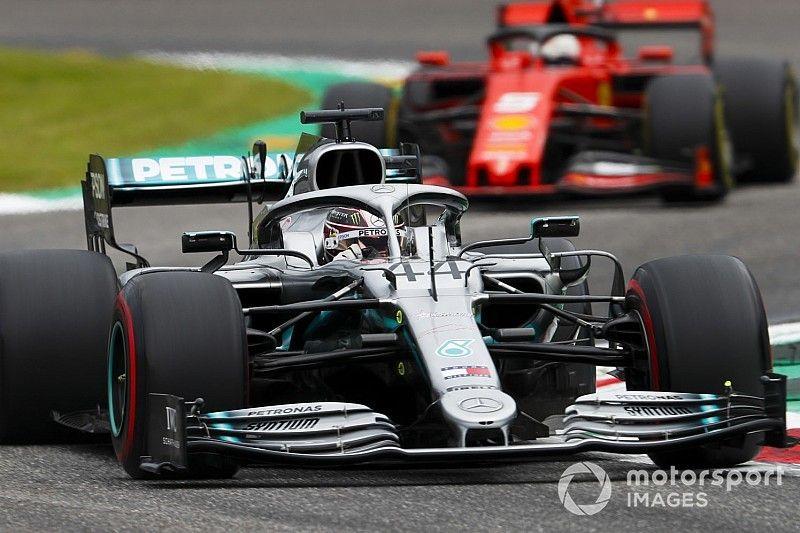 Hamilton sorprendido por la pequeña diferencia con Ferrari