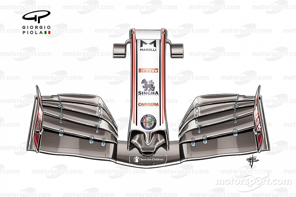 Lo que el ala delantera nos dice de cada diseño de F1 2020