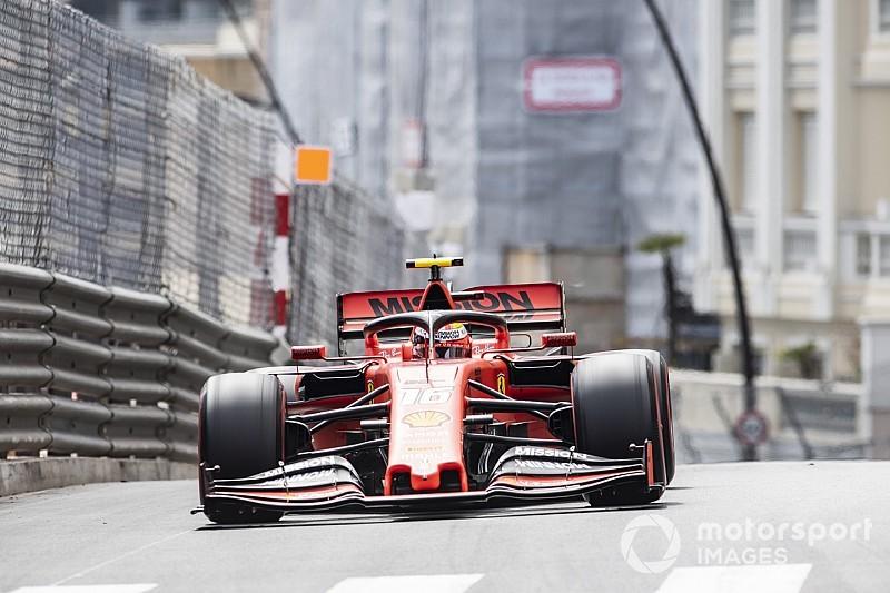 Leclerc snelste in laatste training Monaco, crash voor Vettel