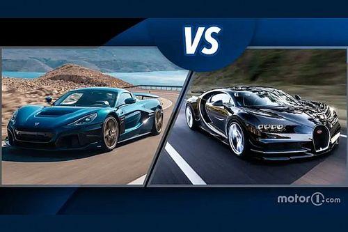 Rimac Nevera vs Bugatti Chiron, super sfida tra elettrica e benzina