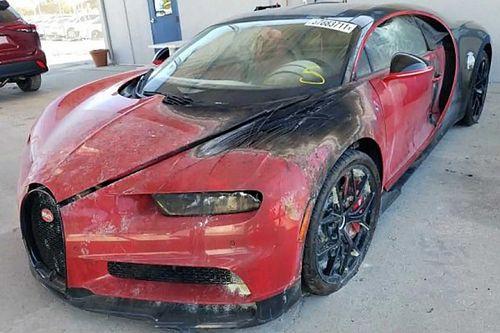 Egy felgyújtott Bugatti Chiron nagy biznisz lehet
