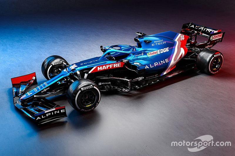 Alpine presents new A521 Formula 1 car