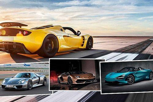Tan veloces como el viento: los 7 roadsters más rápidos del mundo