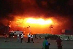 Un violent incendie touche le circuit du GP d'Argentine MotoGP
