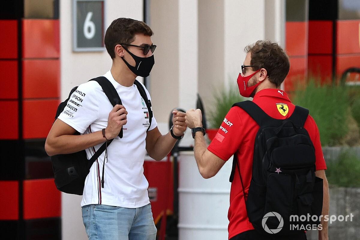 "Russell: ""Tüm sezon Vettel'le pist üstünde mücadele ettik"""