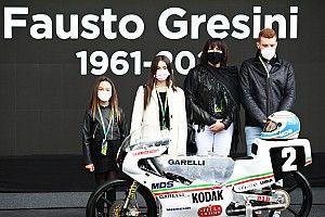 Misano celebra Gresini: il figlio Luca sulla Garelli di Fausto