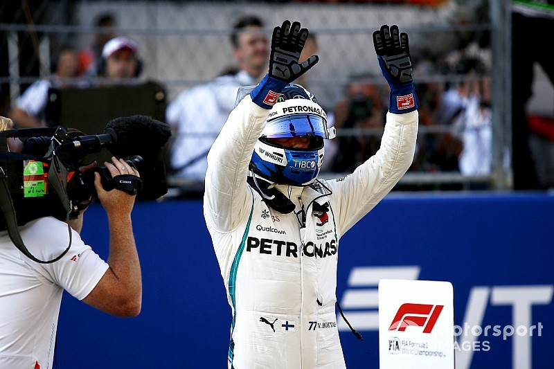 Russian GP: Bottas leads all-Mercedes front row