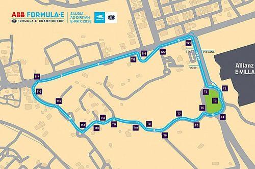 Svelato il layout del circuito di Riyadh per la Formula E