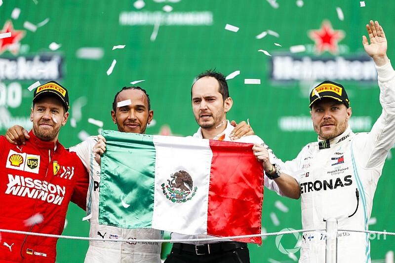 Hamilton wint in Mexico, Verstappen zesde na inhaalrace