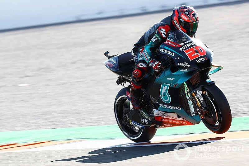 Valencia MotoGP: Quartararo tops FP2 as Rossi crashes again