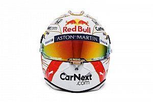 Fotos: el casco, aún más blanco, de Max Verstappen para 2020