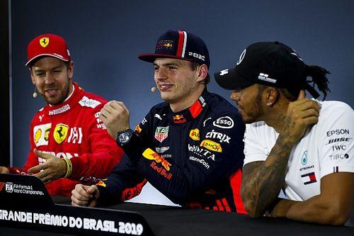 La burla de Vettel y Verstappen a Hamilton