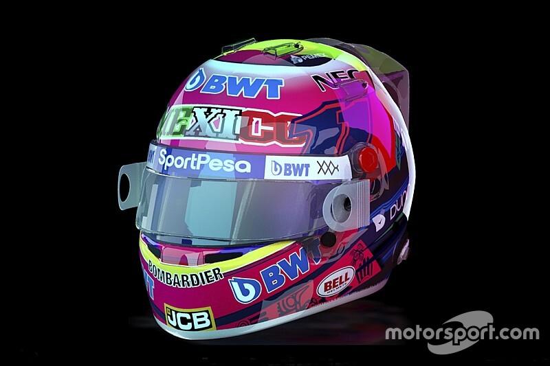 Перес представил раскраску шлема для домашнего Гран При