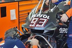 Honda: Marquez prova un cupolino con ali molto diverse