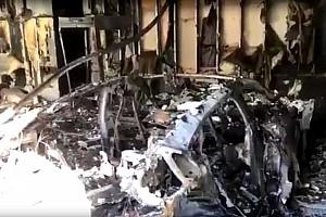 Videó: Nem csak a Teslák gyulladnak ki maguktól, egy Porsche Taycan is kiégett