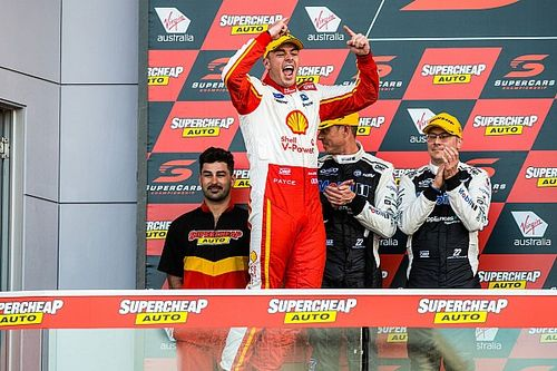 """McLaughlin """"content"""" with controversial Bathurst win"""