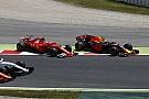 Räikkönen, Bottas, Verstappen, Ricciardo: onboard videón a rajt