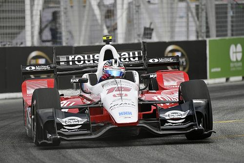 Rahal rueful after caution period ends victory challenge