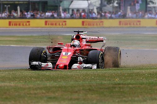 Pirelli revela la causa del drama de Vettel en Silverstone