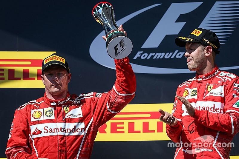 """Vettel reconoce que Raikkonen era """"mucho más rápido"""""""