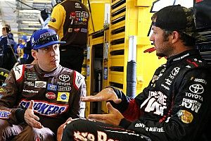 """Kyle Busch says """"it certainly is"""" frustrating to get out-run by Truex"""