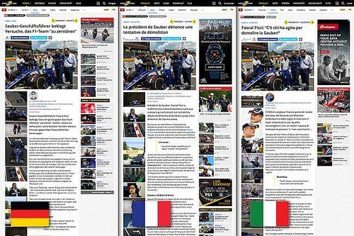 Motorsport.com lancia l'innovativa edizione trilingue svizzera