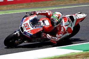 Michele Pirro in sella alla terza Ducati ufficiale al GP di Misano
