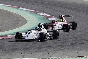 Dubai MRF Challenge: Newey wins Race 3 after Schumacher and Vips collide