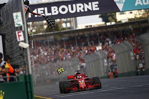"""Horner: Zege van Ferrari in Melbourne """"gewoon geluk"""""""