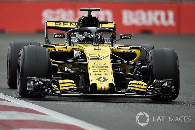 Hülkenberg vijf startplaatsen achteruit in Baku