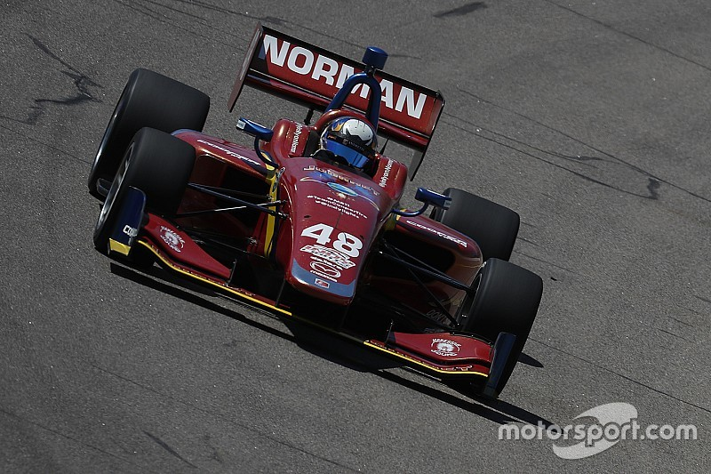 Gateway Indy Lights: Norman wins after epic scrap with Herta