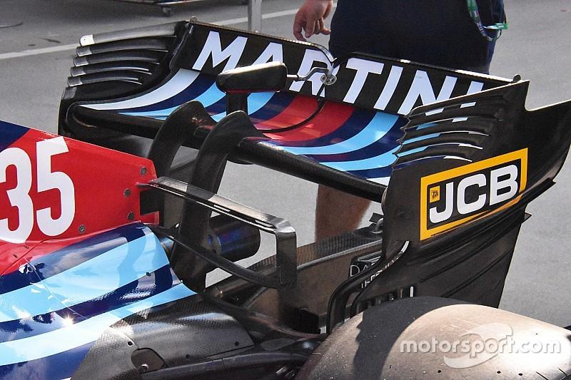 Williams: doppia deck wing sulla FW41 in cerca di carico aerodinamico