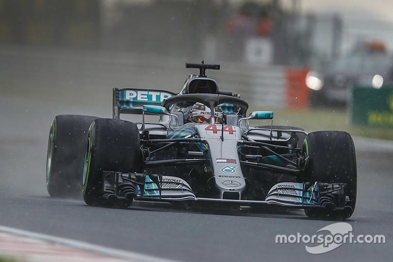 Qualifs - Hamilton danse sous la pluie