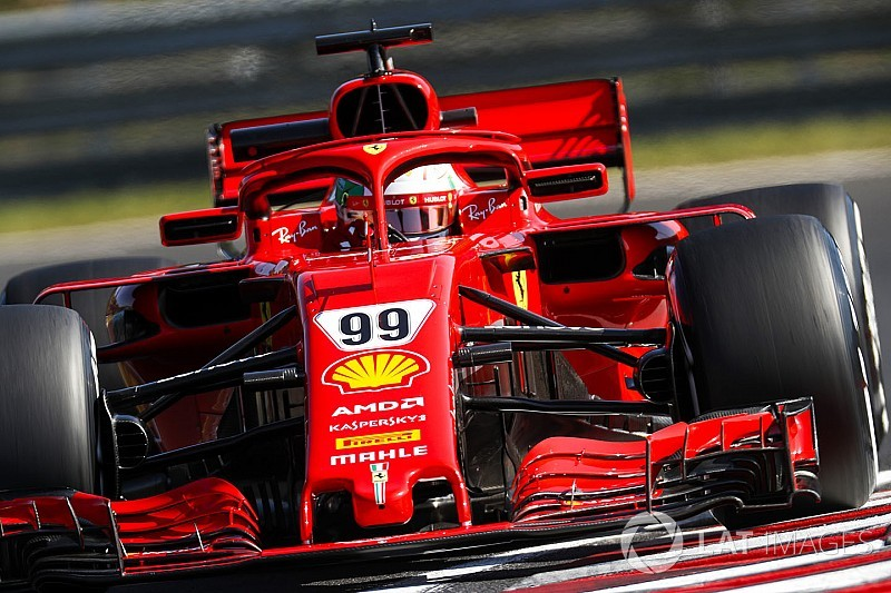 Giovinazzi tops first morning of Hungary test for Ferrari
