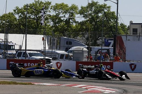 Video: Who was to blame in Wickens v Rossi IndyCar clash?