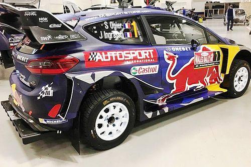 Ogier y Tanak, con una decoración de Autosport para el Rally de Gales