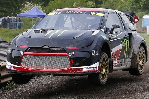 Lydden WRX: Solberg leads Day 1 as Loeb hits trouble