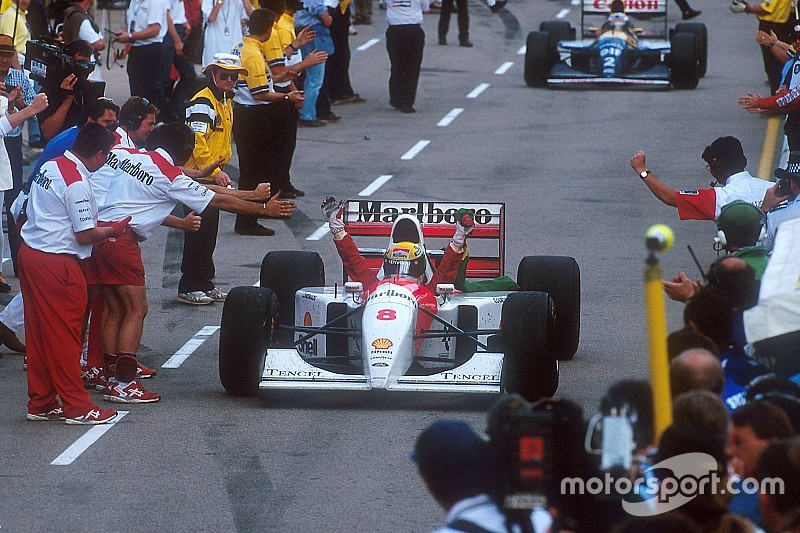 La última victoria de Senna en F1, histórica en todo
