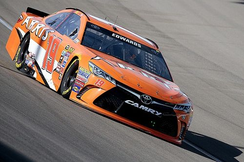 Edwards tops Saturday morning practice in backup car