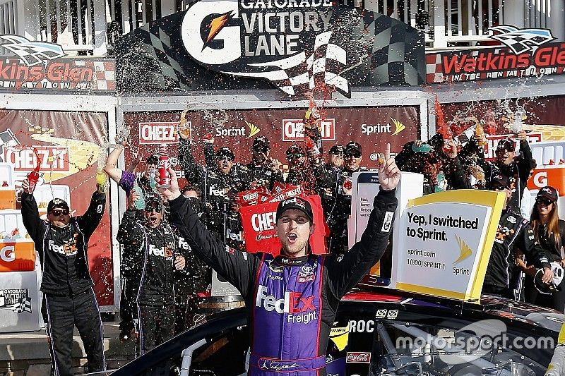 "Hamlin wins Watkins Glen despite ""worst pain I've had to go through"""
