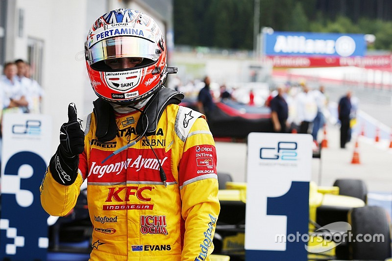 Red Bull Ring GP2: Evans triumphs in crazy mixed-weather race