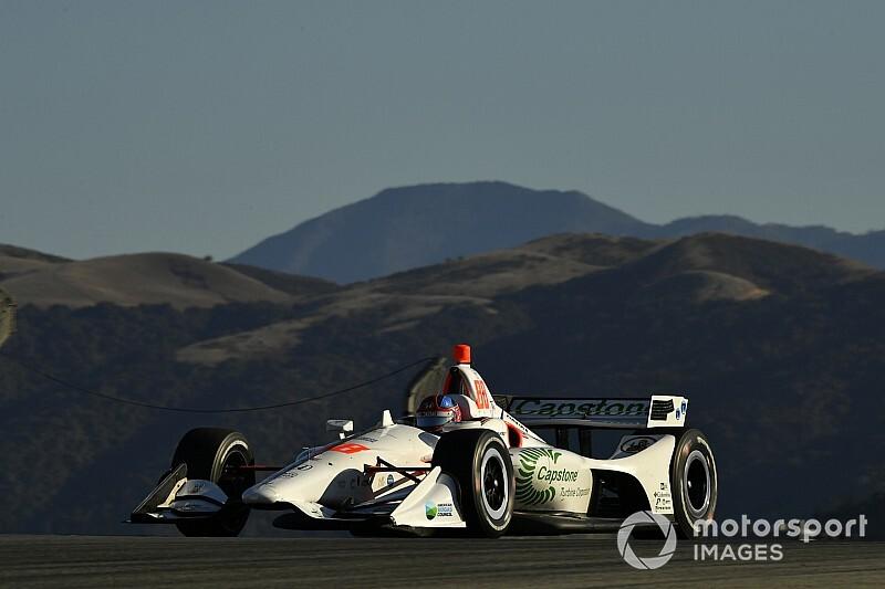 Laguna Seca IndyCar: Rookies star in first practice despite offs