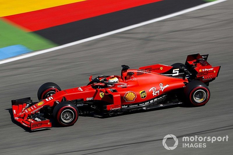 Vettel lidera un 1-2 de Ferrari en la 1° práctica de Alemania