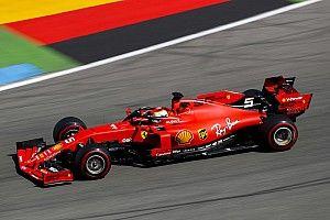 German GP: Vettel leads Ferrari 1-2 in first practice