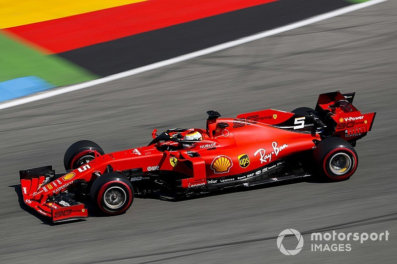 German GP: Vettel leads Ferrari 1-2 in first practice