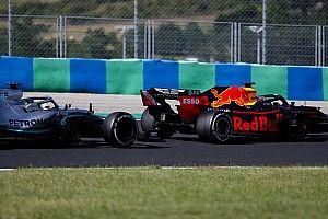 """Verstappen: Pressão de Hamilton na Hungria mostra """"margem"""" da Mercedes"""